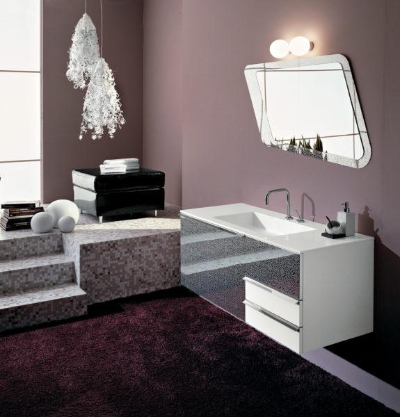 Arredo bagno moderno con mobile sospeso da 120cm | Progetto Bagno