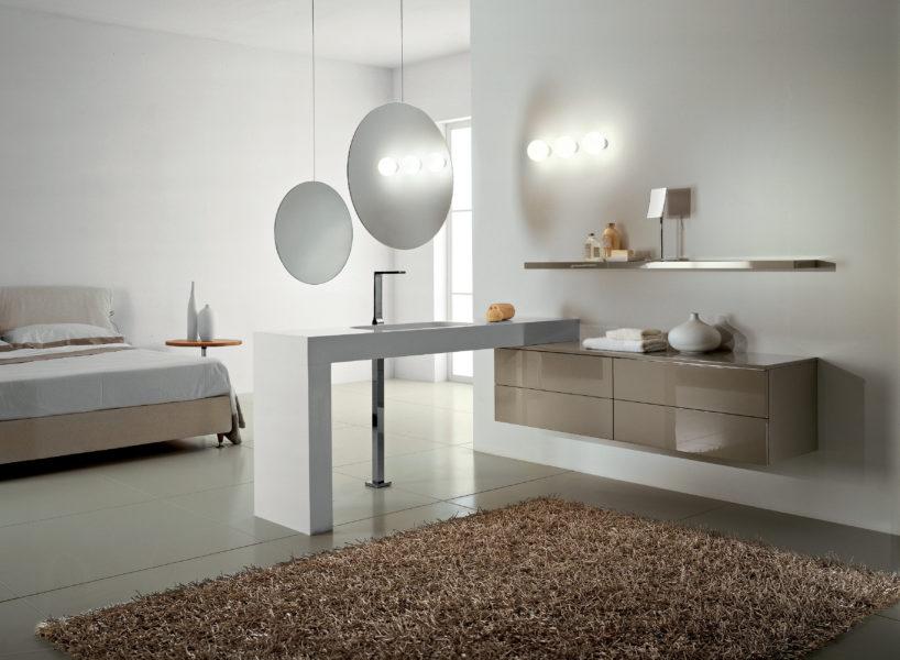 Arredo bagno design minimale e moderno con top a sbalzo | Progetto Bagno