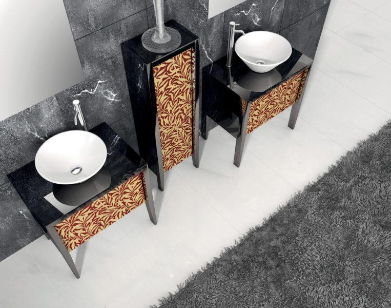 Mobili da bagno di design con ante in cristallo | Progetto Bagno