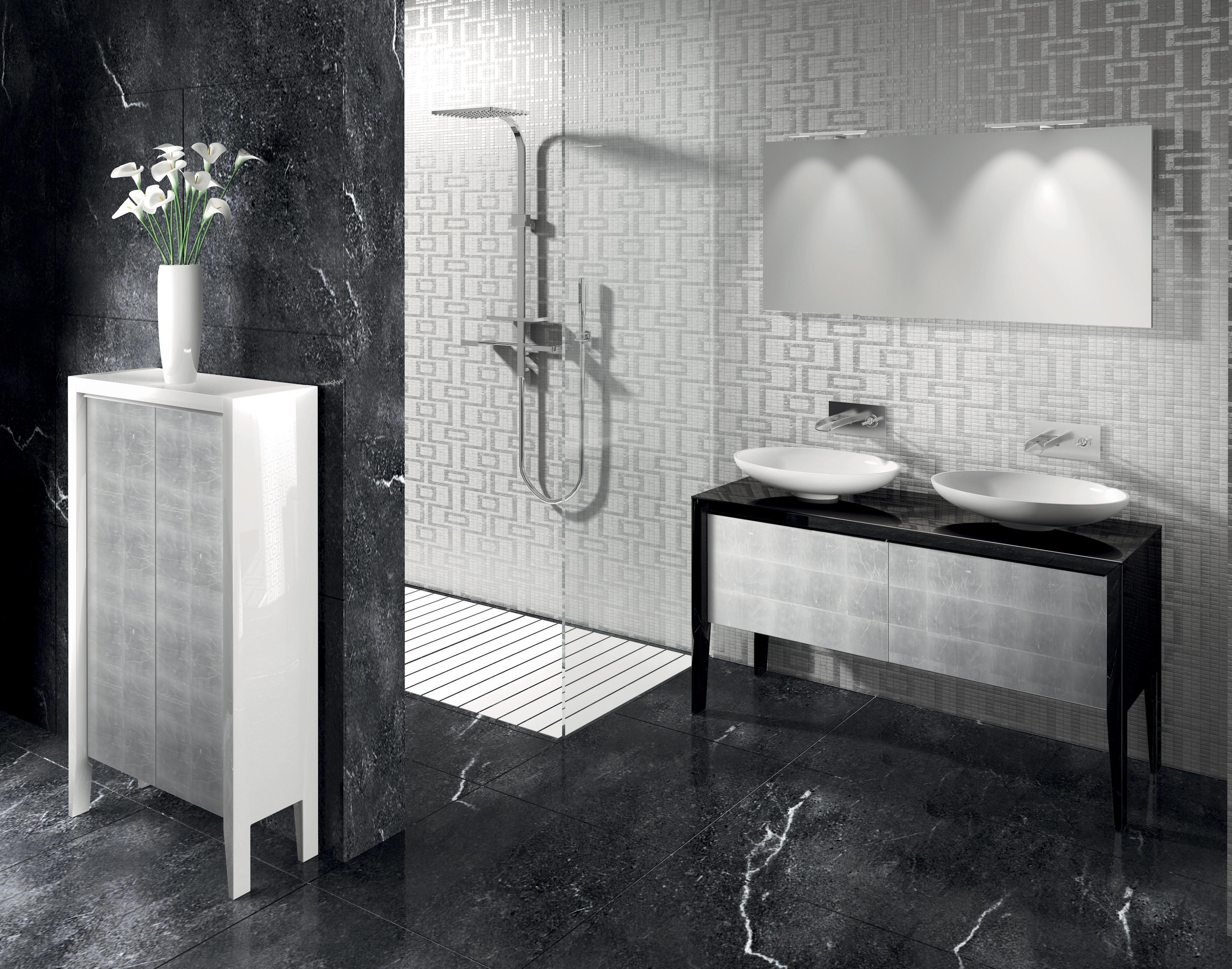 Jet set progetto bagno - Mobile bagno nero lucido ...
