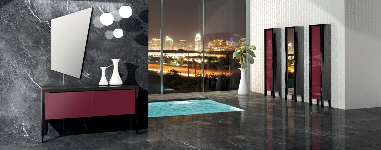 Vetrine e mobili in cristallo per bagno di design moderno | Progetto Bagno