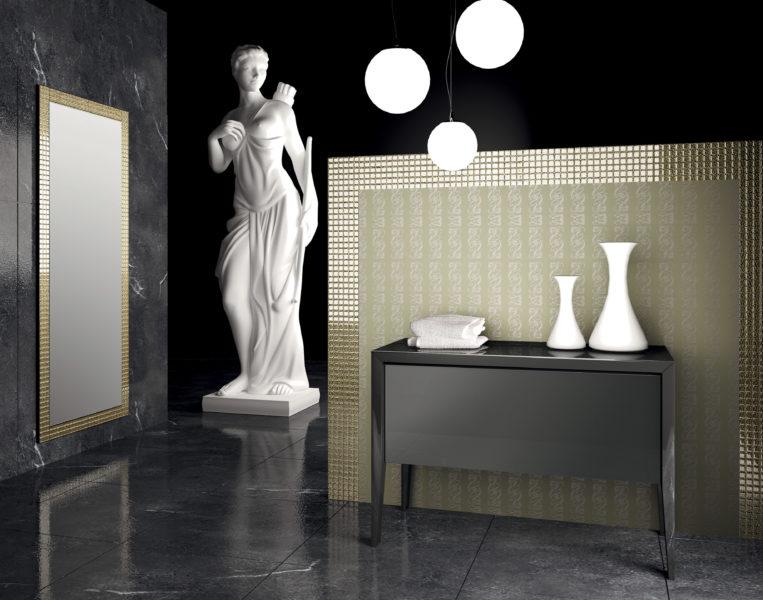 Mobile contenitore a terra 105 cm per bagno design moderno | Progetto Bagno