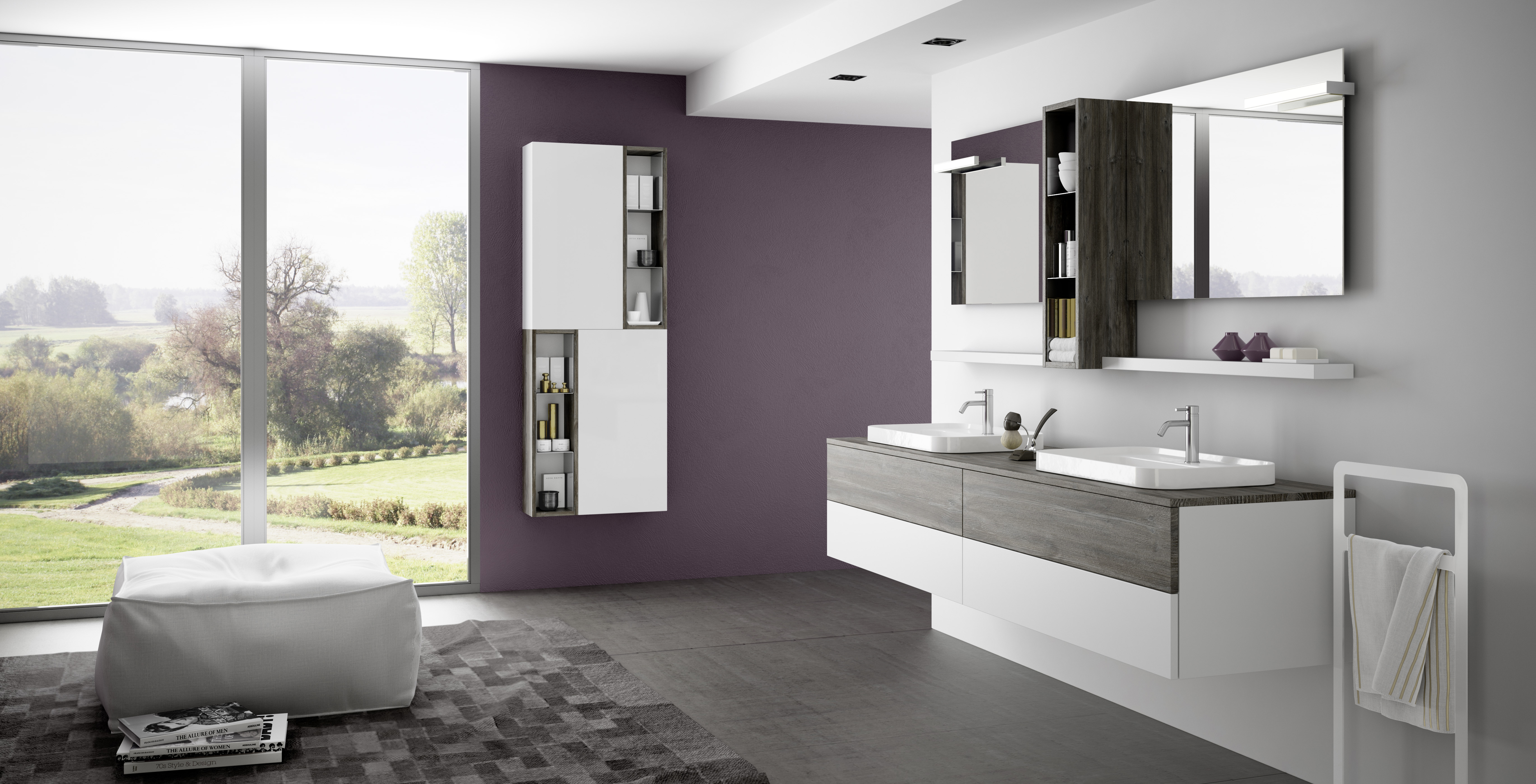 Lounge slim progetto bagno