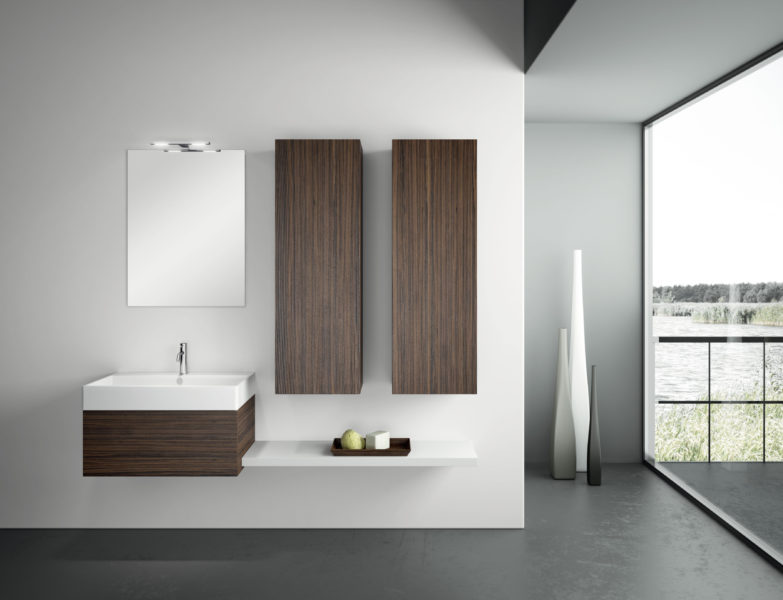 Mobili per bagno di lusso 180 cm con pensili alti 120 cm | Progetto Bagno