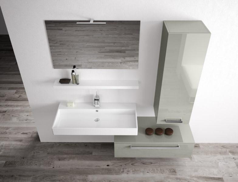 Composizione arredo bagno di design da 175 cm | Progetto Bagno