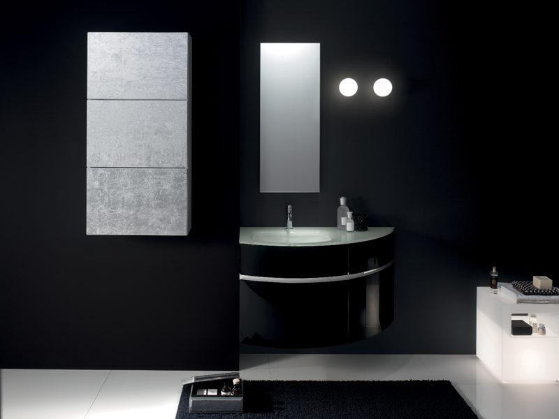 Mobile componibile per bagno di design 105 cm con lavello a destra | Progetto Bagno