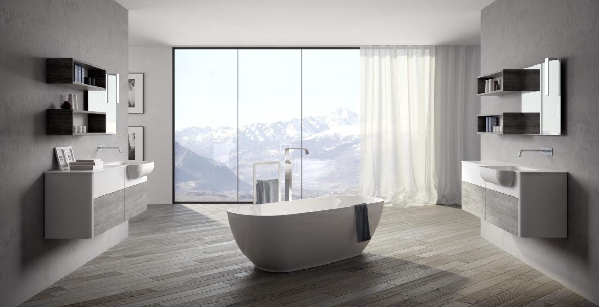 Arredo bagno di design con vasca free standing | ZEUS by Progetto Bagno