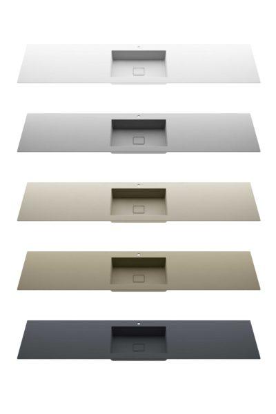Colori disponibili per lavello STONE con superficie ad effetto materico - Progetto Bagno
