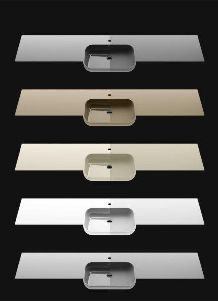 Finiture per top mobili da bagno in Solid Surface | Progetto Bagno