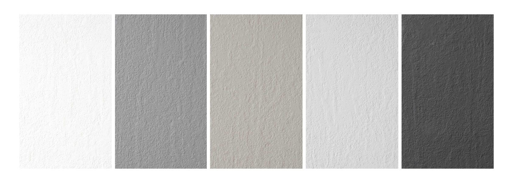 Colori disponibili per finitura materica PLAMKY - Progetto Bagno
