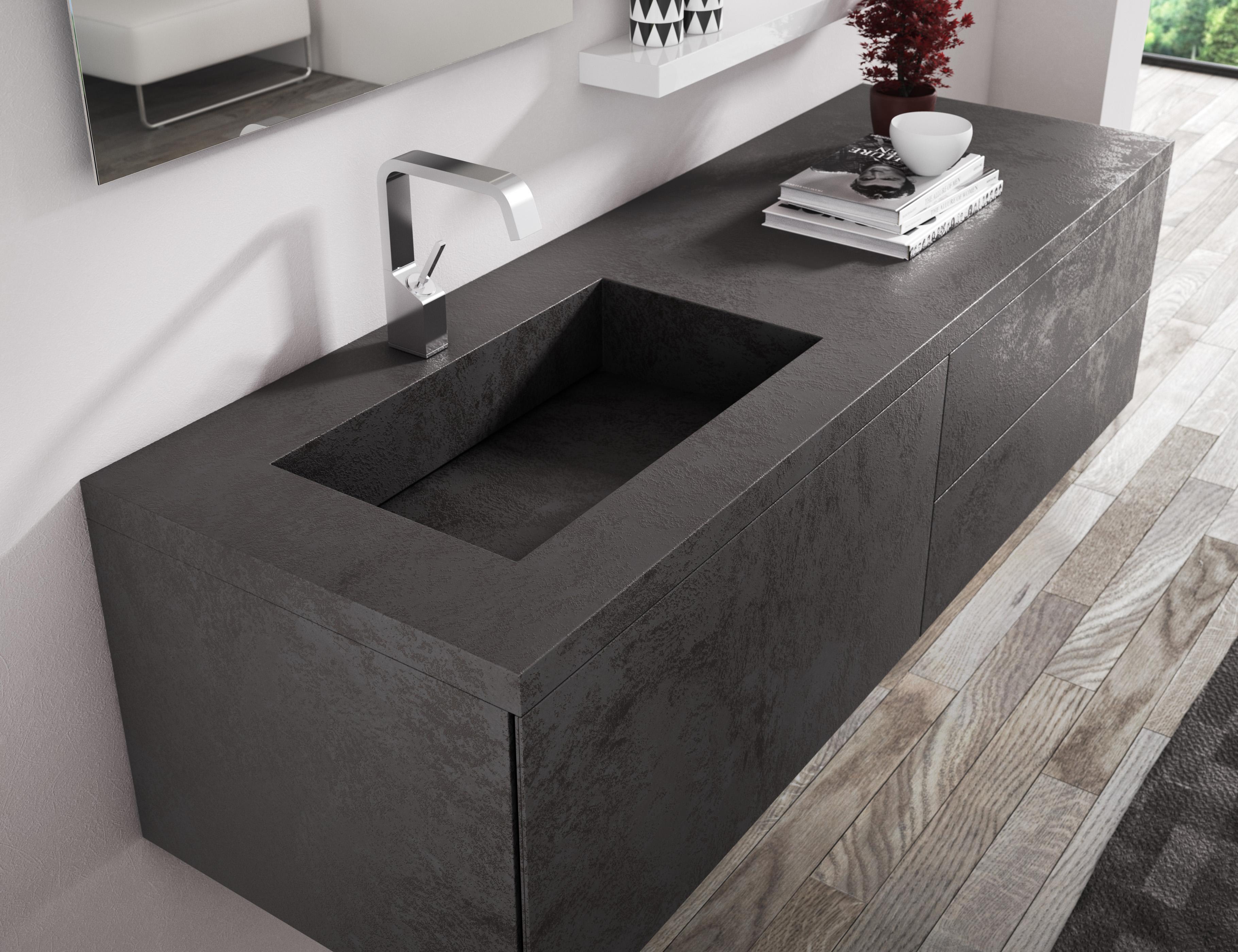 Lounge lam stone progetto bagno for Lavandino bagno